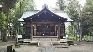 2021年7月6日朝の富士森公園の浅間神社です