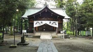 2021年7月31日朝の富士森公園の浅間神社です
