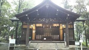 2021年7月2日朝の富士森公園の浅間神社です