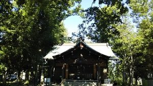 2021年7月18日朝の富士森公園の浅間神社です