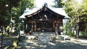 2021年7月19日朝の富士森公園の浅間神社です