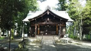 2021年7月13日朝の富士森公園の浅間神社です