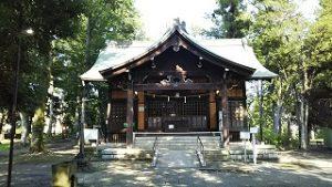 2021年7月20日朝の富士森公園の浅間神社です