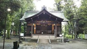 2021年7月9日朝の富士森公園の浅間神社です