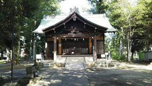 2021年8月2日朝の富士森公園の浅間神社です