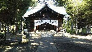 2021年8月1日朝の富士森公園の浅間神社です