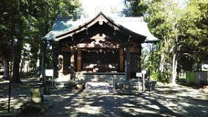 2021年8月10日朝の富士森公園の浅間神社です