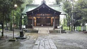 2021年8月8日朝の富士森公園の浅間神社です