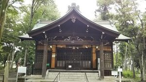 2021年8月9日朝の富士森公園の浅間神社です