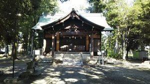 2021年8月6日朝の富士森公園の浅間神社です