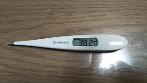 おわ!熱が38.2度!