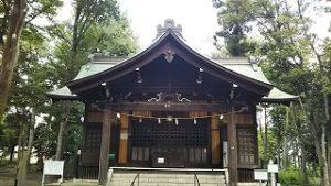 2021年8月7日朝の富士森公園の浅間神社です