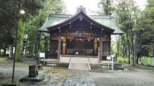 2021年8月13日朝の富士森公園の浅間神社です