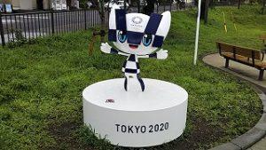 2021年8月13日朝の富士森公園のミライトワです