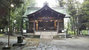 2021年8月16日朝の富士森公園の浅間神社です