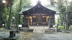 2021年8月15日朝の富士森公園の浅間神社です