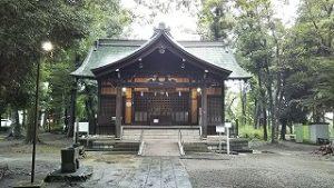 2021年8月14日朝の富士森公園の浅間神社です