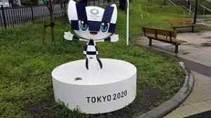 2021年8月15日朝の富士森公園のミライトワです