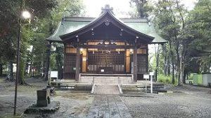 2021年8月17日朝の富士森公園の浅間神社です