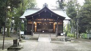 2021年8月24日朝の富士森公園の浅間神社です