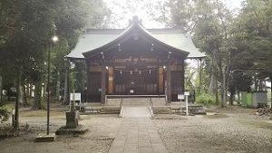 2021年8月29日朝の富士森公園の浅間神社です