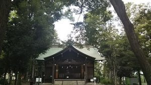 2021年8月30日朝の富士森公園の浅間神社です