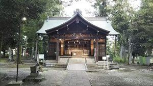 2021年8月23日朝の富士森公園の浅間神社です