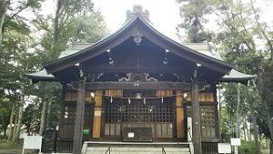 2021年8月31日朝の富士森公園の浅間神社です