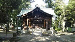 2021年8月26日朝の富士森公園の浅間神社です