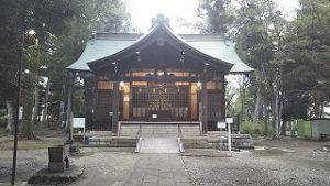 2021年8月28日朝の富士森公園の浅間神社です