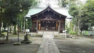 2021年9月10日朝の富士森公園の浅間神社です