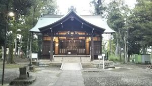 2021年9月17日朝の富士森公園の浅間神社です