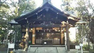 2021年9月7日朝の富士森公園の浅間神社です