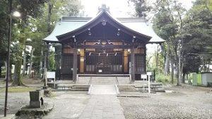 2021年9月26日朝の富士森公園の浅間神社です