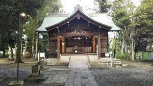 2021年9月19日朝の富士森公園の浅間神社です
