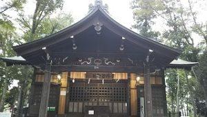 2021年9月11日朝の富士森公園の浅間神社です