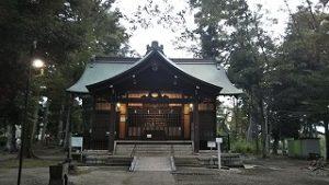 2021年9月14日朝の富士森公園の浅間神社です