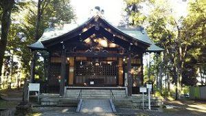 2021年9月20日朝の富士森公園の浅間神社です