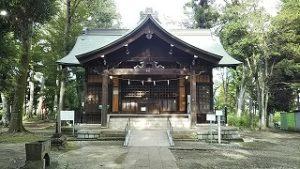 2021年9月13日朝の富士森公園の浅間神社です