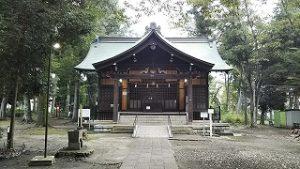 2021年9月12日朝の富士森公園の浅間神社です