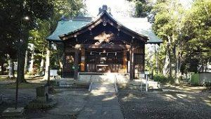 2021年9月24日朝の富士森公園の浅間神社です