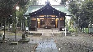 2021年9月25日朝の富士森公園の浅間神社です