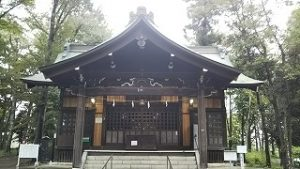 2021年9月5日朝の富士森公園の浅間神社です