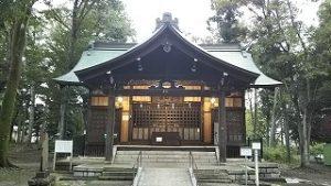 2021年9月6日朝の富士森公園の浅間神社です