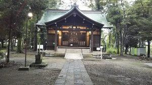 2021年9月4日朝の富士森公園の浅間神社です