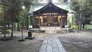 2021年9月3日朝の富士森公園の浅間神社です
