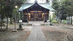 2021年10月12日朝の富士森公園の浅間神社です