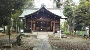 2021年10月14日朝の富士森公園の浅間神社です