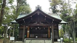 2021年10月10日朝の富士森公園の浅間神社です