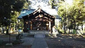 2021年10月11日朝の富士森公園の浅間神社です